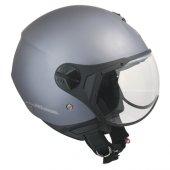 Açık Motosiklet Kaskı Cgm 107a Florance Sagomata Gri Renk