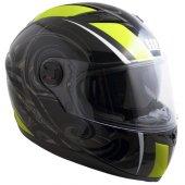 Kapalı Motosiklet Kaskı Cgm 308g Los Angeles Sarı Siyah Renk