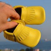 Klasik Makosen Bebek Ayakkabı Sarı Cv 228