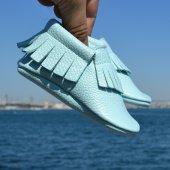 Klasik Makosen Bebek Ayakkabı Mint Cv 280
