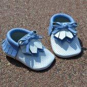 Navaho Makosen Bebek Ayakkabı Beyaz Mavi Cv 302
