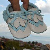 Navaho Makosen Bebek Ayakkabı Bej Mint Cv 355