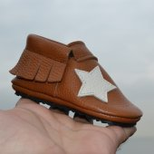 Yıldız Makosen Tabanlı Bebek Ayakkabı Taba Cv 360