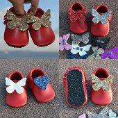 çıt Çıtlı Makosen Tabanlı Bebek Ayakkabı Kırmızı Cv 392