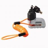 Motorsiklet Disk Kilidi Disk Kilit + Hatırlatma Kablo Hediy