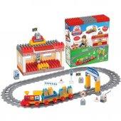 Raylı Tren Set Bloklar 65 Parça Dede 03258