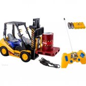 R C Uzaktan Kumandalı Şarjlı 6 Kanal Oyuncak İş Makinesi Forklift