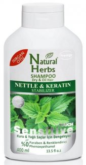 Natural Herbs Isırgan Otlu Keratin 400 Ml Şampuan