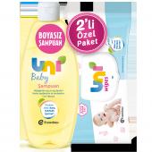 Uni Wipes Islak Havlu + Uni Baby Bebek Şampuanı 750ml
