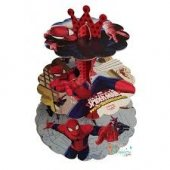 Spiderman Cupcake Kek Stand