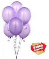 25 Adet Mor Metalik Balon
