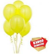 25 Adet Sarı Renk Metal K Parlak Sedefl Balon
