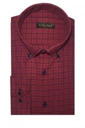 Atilla Özer 0032 Klasik Kesim Uzun Kol Ekose Gömlek