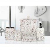 Irya Mozaik 5 Prç Banyo Seti Beyaz