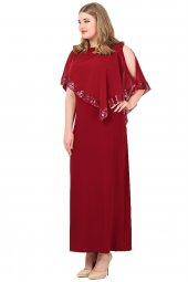 Büyük Beden Payetli Uzun Abiye Elbise Kl8022u