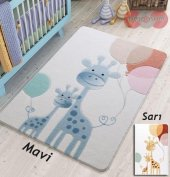 Confetti Happy Giraffe Oymalı Çocuk Bebek Odası Halısı