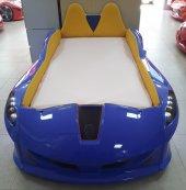 Farinay Jaguar Mavi Full Bazalı Çocuk Karyolası