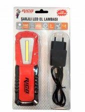 Rico 013 Rc0027 Şarjlı Ledli El Lambası Fener K16 240 Lm Lümen