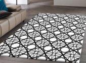 Rugrita Geometrik Halkalar Dekoratif Kaydırmaz Taban Halı