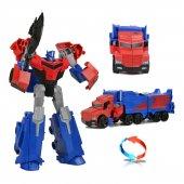 Transformers T Warrior Metal Gövde Optimus Prime Robot Araba