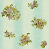 Truva 8603 3 Çiçek Görünümlü Duvar Kağıdı