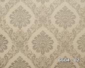 Lamos 6604 02 Vinil Damask Desenli Duvar Kağıdı