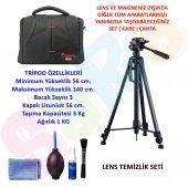 Canon 700d 140cm Tripod + Set Çanta + Temizlik Set...