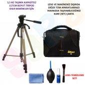 Nikon D3400 157cm Tripod + Set Çanta + Temizlik Seti