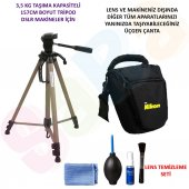 Nikon Dslr 157cm Tripod + Üçgen Çanta + Temizlik Seti