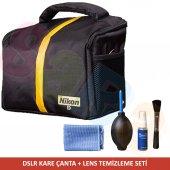 Nikon Omuz Çantası + Temizleme Seti D5100 D5000 D3...