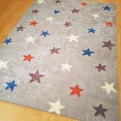 çocuk Odası Halısı Antialerjik Yıldız Desenli Yeni İ B409 100x140