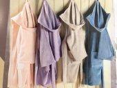 Soley Çocuk Bornozu Renk Mavi Pembe Putra Taş Rengi