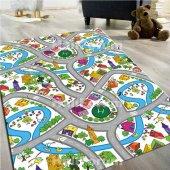 çocuk Halısı Modelleri Trafik Yollu Oyun Halısı Doğuş D53 100x140