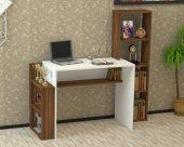 Kalender Dekor Alfonso Çalışma Masası Ceviz Beyaz