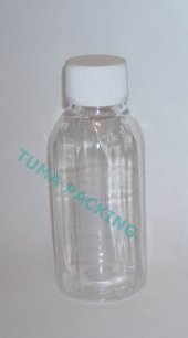 100ml Pet Şeffaf Plastik Boş Şişe (Likit,sıvı Saklama)