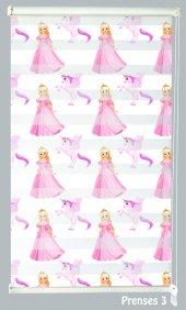 Mrs.pillow Prenses 3 Desenli Zebra Perde 60x200cm Ebadında