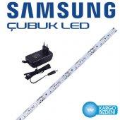 3 Adet Samsung Beyaz Çubuk Led 50cm+1,5 Amper Fişli Adaptör