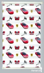 Mrs.pillow Ferrari 0 Desenli Zebra Perde 60x200cm Ebadında
