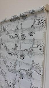 Mrs.pillow Nota Desenli Zebra Perde 60x200 Ebadında
