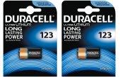 Duracell Ultra Lityum 123 Pil 2 Paket (2 Adet)