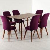 Evform Stork 6 Sandalyeli Masa Takımı Mutfak Masası Salon Takımı