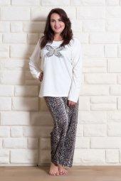 Vienetta 504079 Kadın Kadife Pijama Takımı