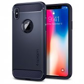 Iphone X Kılıf, Spigen Rugged Armor Midnight Blue