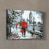 Romantic Day İn London 50x70 Cm Kanvas Tablo,duvar Dekorasyonu