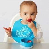 Agubugu Baby Cepli Silikon Mama Önlüğü Mavi