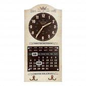Vitale Askılı Takvimli Krem Saat Bı0023 Dekoratif Saat Obje Hediy