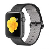Apple Watch 38mm Uzay Grisi Alüminyum Kasa Siyah Naylon Örme Kord