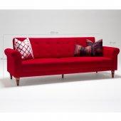 Madona Klasik Üçlü Yataklı Koltuk Kırmızı
