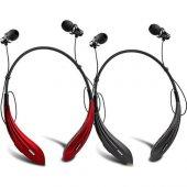 Awei Kablosuz Bluetooth Kulaklık A810bl Siyah Kırmızı