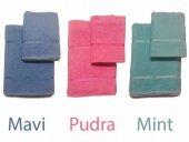 Pamuklu 2li Banyo Havlu Takımı 3 Renk